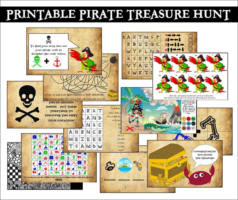 graphic relating to Pirates Printable Schedule named Printable Pirate Occasion Treasure Hunt!