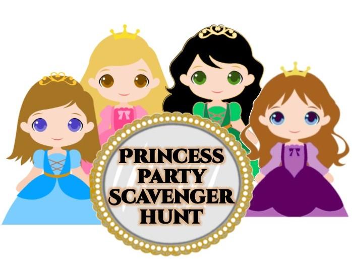 graphic about Printable Princess named Princess Bash Scavenger Hunt - Printable Match
