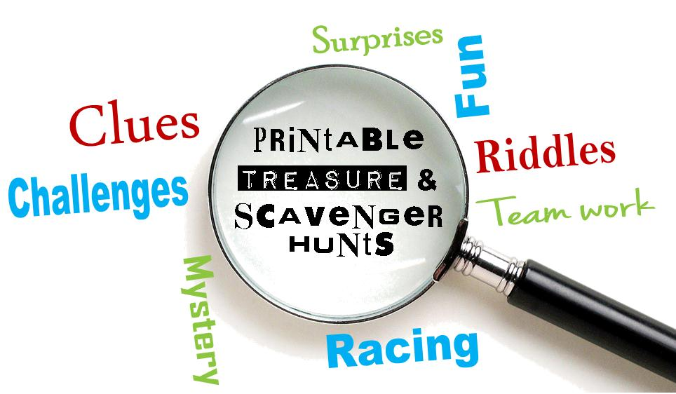 Printable Treasure Hunt Riddles, Clues,& Games