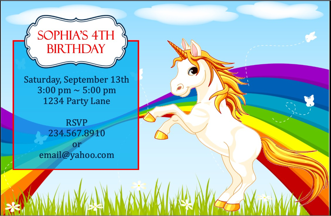 Rainbow And Unicorn Party Game Ideas