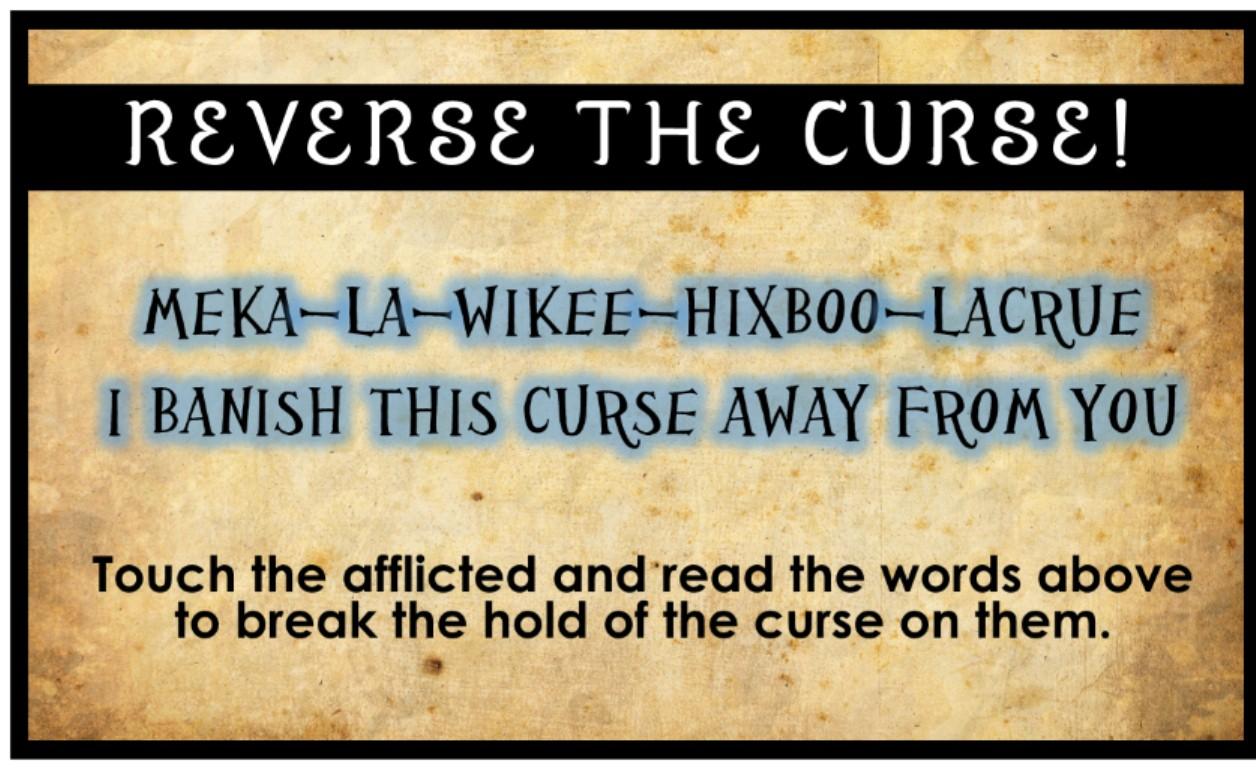 clues spells and curses scavenger hunt