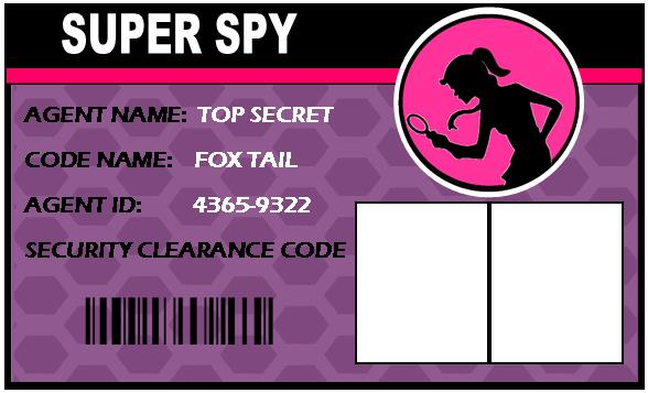 Nasa id badge template for birthday parties page 3 for Spy id card template