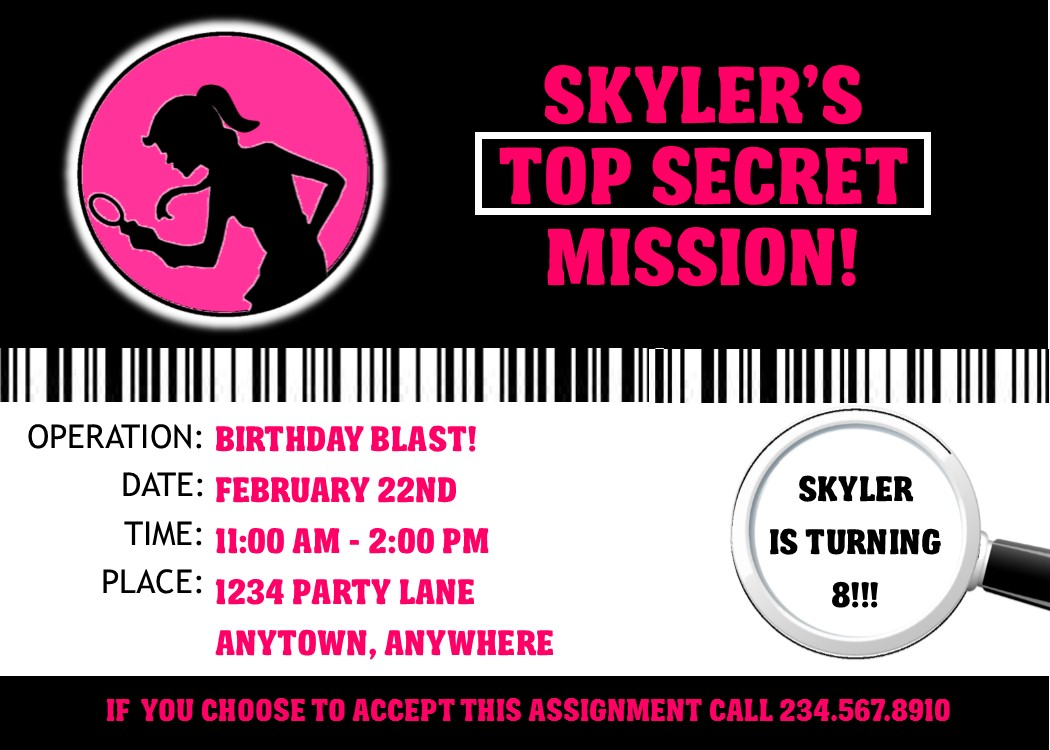 Blank Spy Invitations Images - Reverse Search