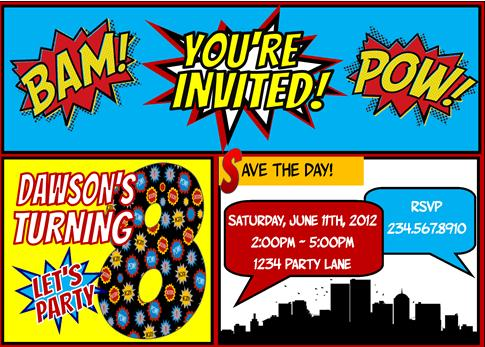 Top Superhero party games and superhero activities – Superheroes Party Invitations