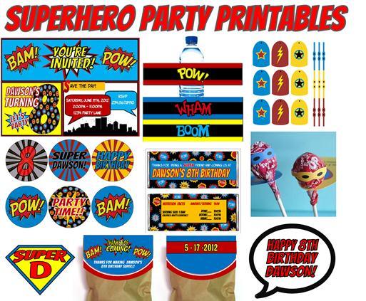 Incredible Superhero Birthday Party Free Printables 513 x 423 · 66 kB · jpeg