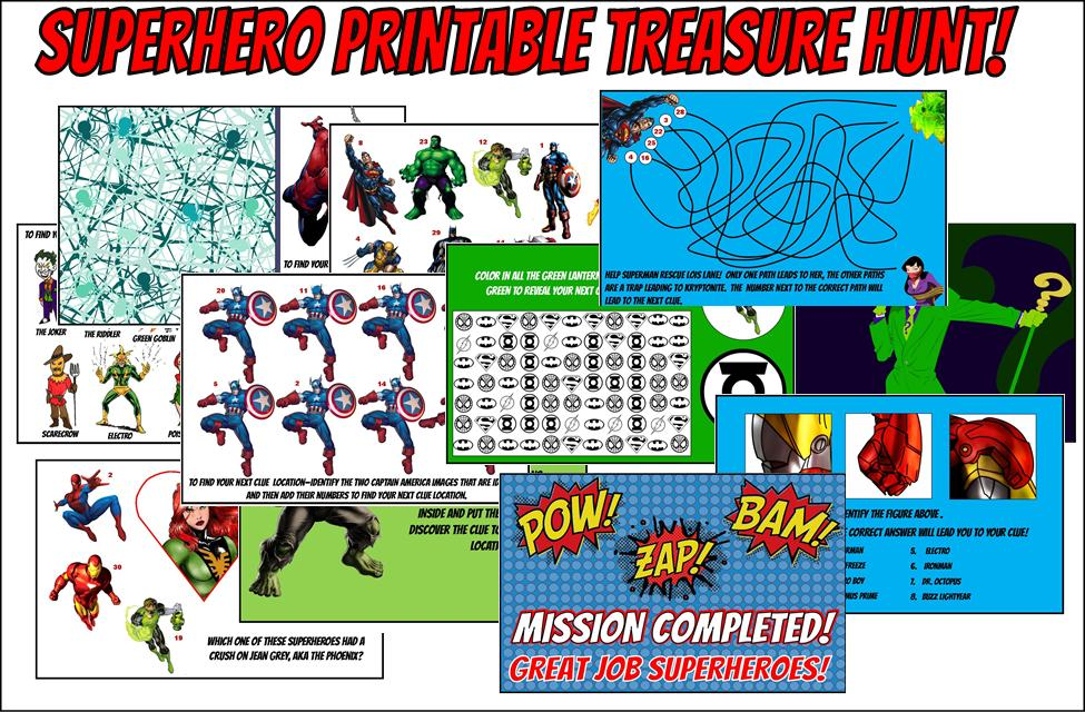 Superhero Treasure Hunt Game