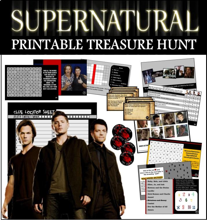 Printable Supernatural Trivia Treasure Hunt