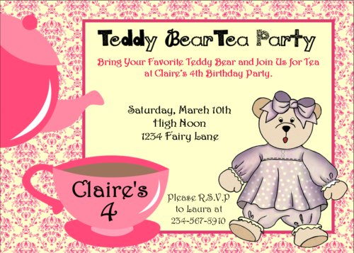 Tea Party Games for a fun and fabulous ParTea – Tea Birthday Party Invitations