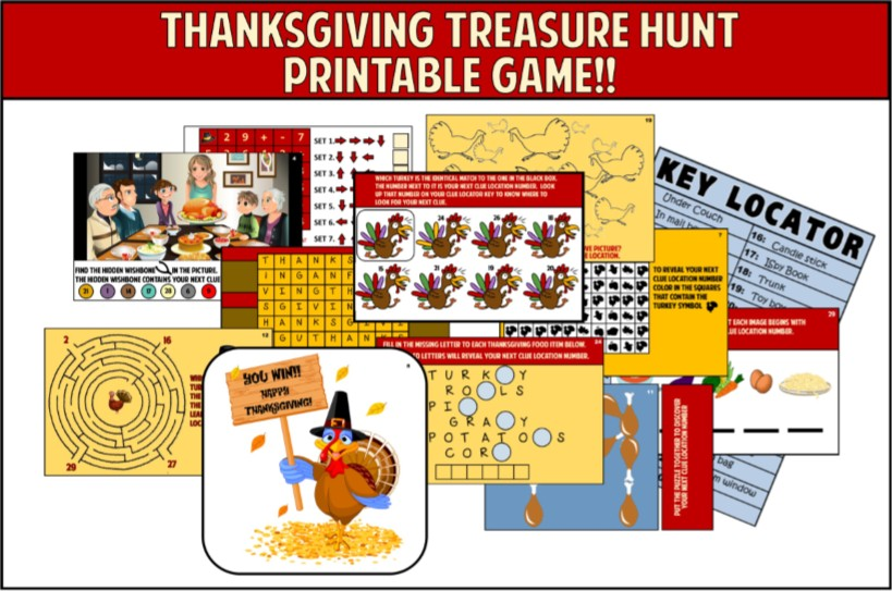 image about Printable Thanksgiving Games identified as Thanksgiving Online games in direction of engage in with your relatives