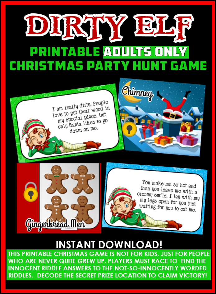 Dirty Elf The Adult Christmas Party Game