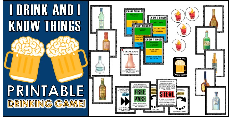 graphic about Printable Card Games named Greatest 12 Pleasurable ingesting Game titles For Get-togethers!
