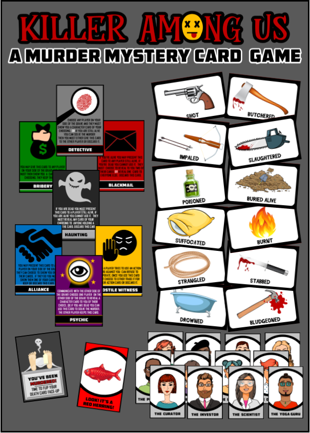 Killer Among Us-A Murder Mystery Card Game for Parties - Download Now!
