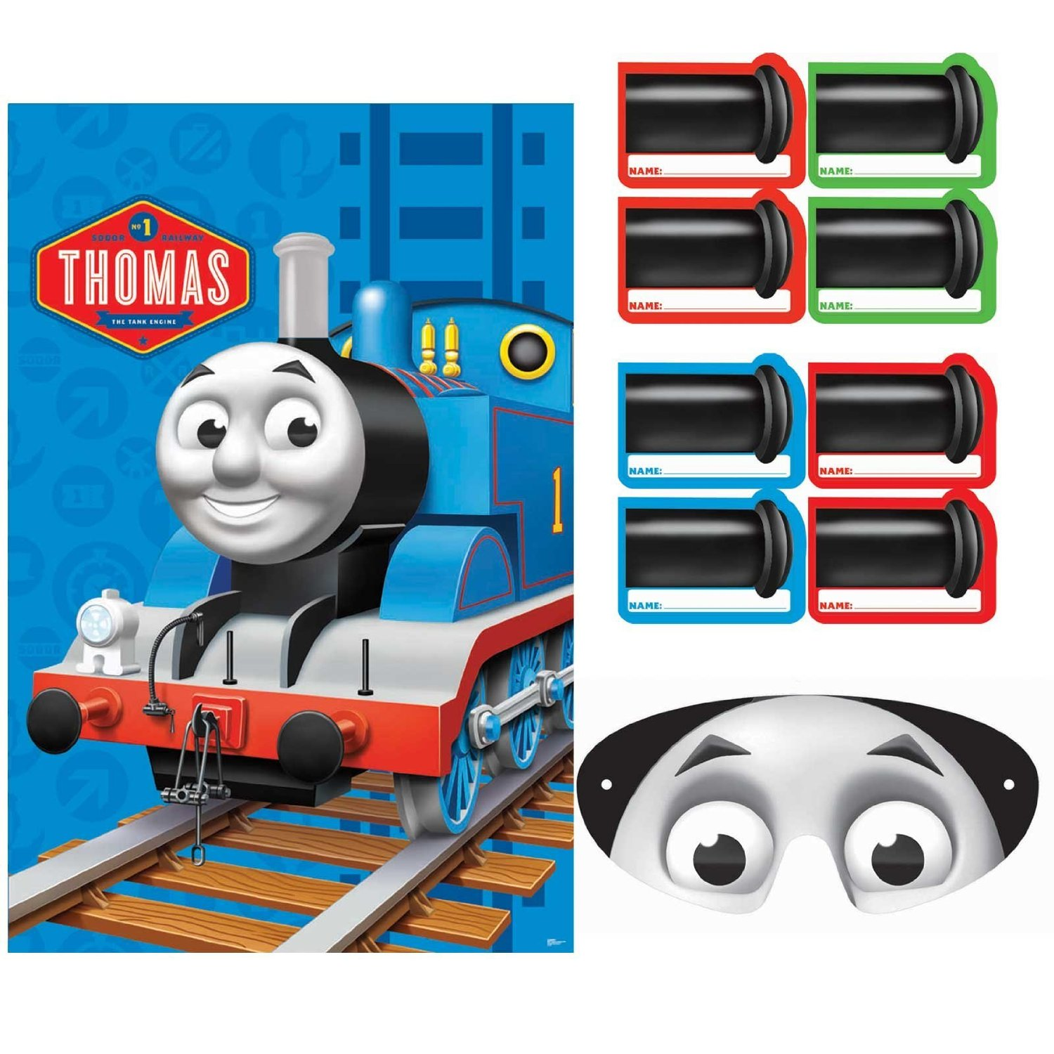 Thomas the train birthday party games ideas and printables for Thomas the tank engine face template