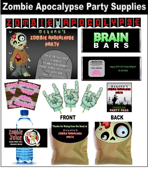 my printable zombie party supplies comes with tons of stuff to make your undead bash more fun and festive this kit includes - Zombie Party Supplies